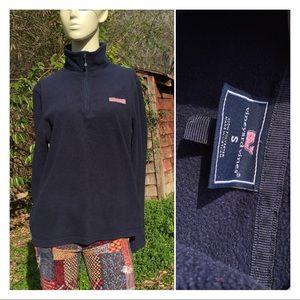 Vineyard Vines Unisex Navy Fleece Pullover Sweater